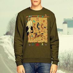 Long Sleeve T-Shirt - Peace Pipe Shield (more colors)
