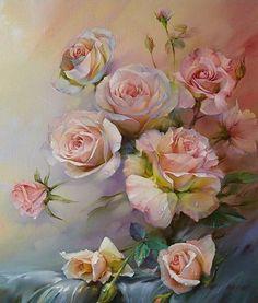 Roman Romanov (Russian landscape; 1966) ~ Pink Morning