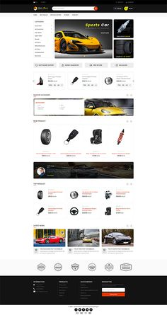 Autobase - Sport Bike & Car Template is a good choice for selling Ecommerce Website Design, Website Design Layout, Web Design, Website Themes, Pet Store, Sport Bikes, Photoshop, Typography, Flower Food