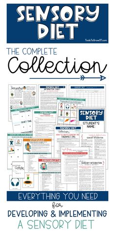 Sensory Diet resources and printable handouts to develop and implement sensory activities for children and students with sensory processing difficulties. Sensory Therapy, Sensory Tools, Sensory Diet, Sensory Issues, Sensory Activities, Therapy Activities, Autism Sensory, Sensory Play, Sensory Disorder