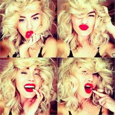 SO wish I could pull these Red Lips off! :(