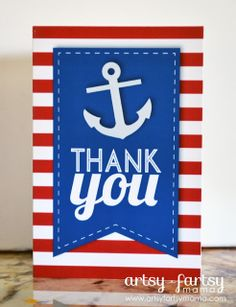 Free Printable Nautical Thank You Cards #freeprintable #thankyou #printable @Kerry Nolan Craft