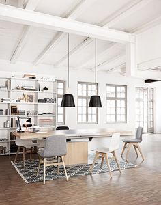 clean and crisp. lots more books on the shelves. Plants on top! home office | BoConcept