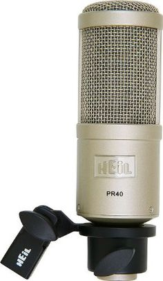 Heil Dynamic Studio Recording Microphone The Heil PR 40 represents completely new dynamic microphone technology designed for a wide range of professional Podcast Setup, Podcast Tips, Studio Equipment, Studio Gear, Recording Equipment, You Sound, Neodymium Magnets, Technology Design