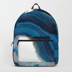 Blue Agate Backpack by cafelab Cute Mini Backpacks, Stylish Backpacks, Girl Backpacks, Bags For Teens, Girls Bags, Monkey Bag, Mochila Jansport, Kawaii Bags, Backpack For Teens