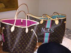 Louis-Vuitton-Neverfull-MM-Shoulder-Bag-Fuchsia-Interior-monogram