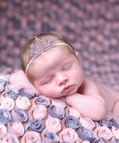 Loving this Nest Of Many Colors Silver & Pink Classic Princess Crown Headband on