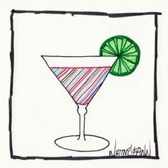 by Whitney Fawn for #30DoC Day 19 - Psychedelic Martini - @createstuff