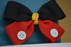 Minnie / Mickey Mouse Hair Bow  Classic Black Red by alittleluxury, $4.99