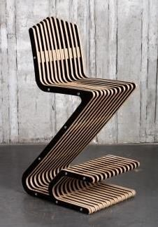 Bar stool. Plywood + hpl