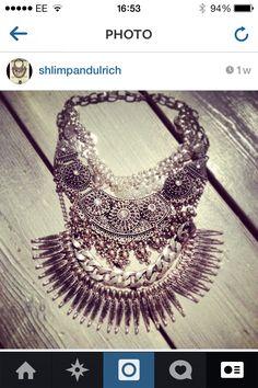 Silver neck piece