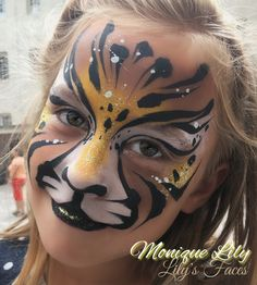 #face painting #facepainting #schminken #schmink #cheeta #tiger #love #amsterdam #moniquelily #lilysfaces #mehron #paradisemakeupaq #mehroneurope #pasion