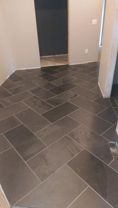 trendy kitchen tile floor ideas home depot Bathroom Floor Tiles, Kitchen Tiles, Kitchen Flooring, Wall Tiles, Slate Floor Kitchen, Ceramic Floor Tiles, Cheap Kitchen Floor, Black Bathroom Floor, Tile Basement Floor