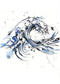 Tattoo design by Petra Hlaváčková, via Behance. Hokusai's Great Wave done a little bit differently!  | garter