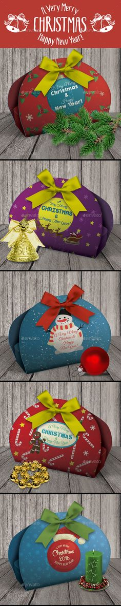 Christmas Package - Packaging Print Templates 13995640