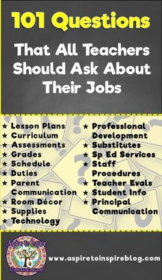 Whether you are a new teacher interviewing for a job or a veteran teacher changing teaching positions, be sure you know the answers to these questions about the policies and procedures pertaining to your job! Great link and is very helpful to ALL teachers Teacher Interview Questions, Teaching Interview, Teacher Interviews, Teaching Resume, Teaching Career, Teaching Ideas, Job Interviews, Teacher Interview Outfit, Career Help