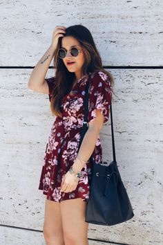 Floral playsuit #boho #outfit #summer More on: http://www.littleblackcoconut.com/2016/06/blog-de-moda-outfit-mono-de-flores.html