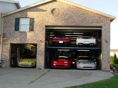 The only way for us to fit the cars in our garage.