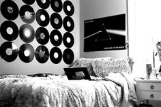 Room w/ Records and Pink Floyd poster