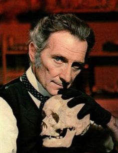 Peter Cushing OBE ~ Born Peter Wilton Cushing,26 May 1913 in Kenley, Surrey, England. Died 11 August 1994 (aged 81) in Canterbury, Kent, England. English actor and a BAFTA TV Award Best Actor winner in 1956.Mainly known for his many appearances in Hammer Films, in which he played the sinister Baron Frankenstein, Sherlock Holmes and the vampire hunter Dr. Van Helsing.Cushing's best-known roles include Star Wars (1977) and in Dr. Who films based on the Doctor Who television series.