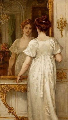 View Vanity by Walter MacEwen on artnet. Browse upcoming and past auction lots by Walter MacEwen. Classic Paintings, Old Paintings, Beautiful Paintings, Mirror Art, Mirror Image, Mirror Vanity, Renaissance Kunst, Art Ancien, Victorian Art