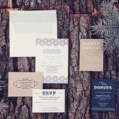 Dot and Flourish wedding invitation by hellotenfold on Etsy, $6.00