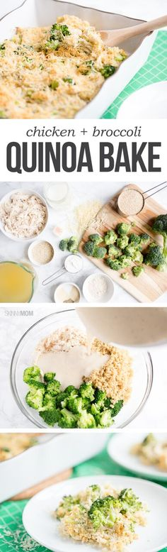 Chicken & Broccoli Quinoa Bake - This recipe is packed with protein to power you through your day!
