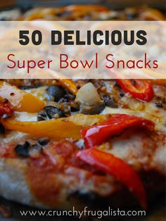 Get your eat on for the big game with these 50 Delicious Super bowl snacks! Queso, wings, sliders, football brownies, onion dip and much much more