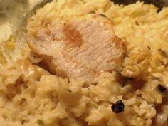 Pork Chop and Rice Casserole - looks like the recipe my mom used to make