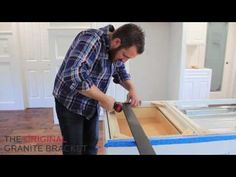 Kitchen Island Support Brackets for countertops. Easy DIY installation video of Hidden Island Support Bracket from The Original Granite Bracket