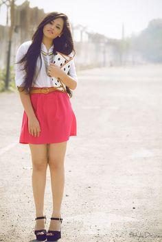 skirt , shirt .. all perfect