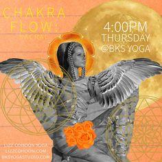 Promotional design for yoga class promo Digital Collage ....sacral chakra...angel...moon...vintage art...graphic design...sacred geometry...rose...vinyasa