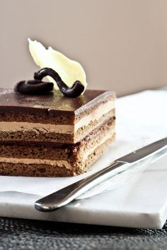 { a swoonful of sugar } : Classic Opera Cake There is a specialty bakery in Madison WI, that makes this. I fell in love and can't find it anywhere else