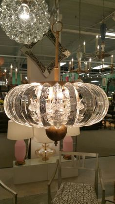 Louise Gaskill chandelier made from vintage lucite Suites at Market Square M4001