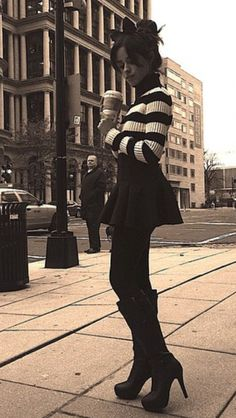 Black and white striped sweater <3