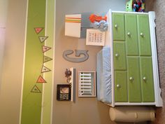 DIY changing table... this is what I want to do with my old vanity. All white