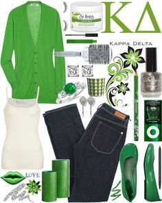 Kappa Delta  Green !  My grandmother was a KD at Judson College, about 100 years ago !