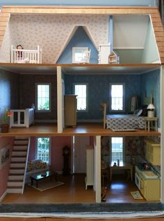 Victoria 39 s farmhouse floor plan idea dollhouse for Vermont farmhouse plans