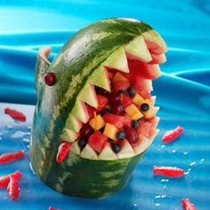 Watermellon Shark  Take a bite out of summer boredom with this kid-friendly food project. —Taste of Home Test Kitchen