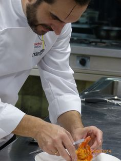 Cooking master class with Michelin star Chef Mario Sandoval. Madrid.