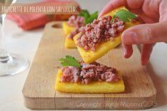 antipasto semplice fingerfood stuzzichino brushettato ricetta cucinare in padella o alla bistecchiera © Copyright Status mamma 2015 Giallozafferano
