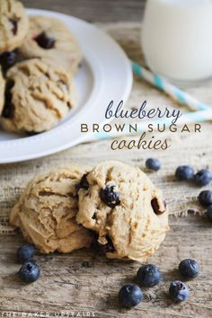 awesome blueberry brown sugar cookies