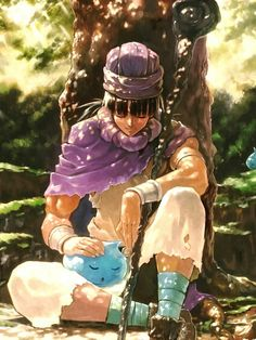Light filtering Through the Foliage - pixiv Spotlight Dragon Quest 2, Dragon Warrior, Sailor Moon Art, Anime Poses Reference, Blue Dragon, Anime Fantasy, Manga Pictures, Video Game Art, Character Design Inspiration