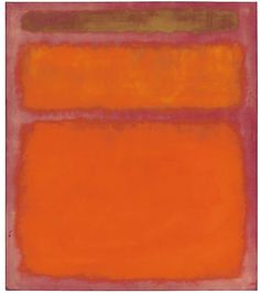 """Mark Rothko's """"Orange, Red, Yellow, 1961,"""" which sold for just under $87 million, had not appeared in the market for 45 years."""