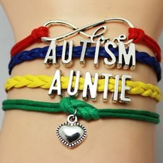 Free Auntie Love Autism Awareness Bracelet