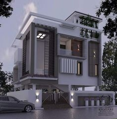 Amazing Ideas House Front Elevation Designs For Duplex Houses Bungalow House Design, House Front Design, Modern House Design, Front Elevation Designs, House Elevation, Building Elevation, Independent House, Bungalow Exterior, Modern House Plans
