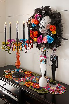 We add new finds to our Pier 1 Dia de los Muertos Collection every year, and we're particularly proud of this year's selection, featuring intricate sugar skull decor, colorful candelabras and festive supplies for hosting your Halloween or Day of the Dead party.