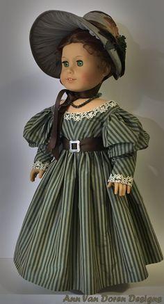 Ann Van Doren Designs by AnnVanDorenDesigns American Girl Clothes, Girl Doll Clothes, American Girls, Girl Dolls, Taffeta Dress, Silk Dress, Tea Gown, Doll Costume, Costumes