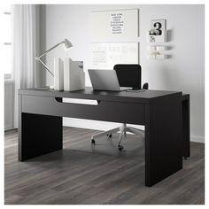 99+ Black Work Desk - Contemporary Home Office Furniture Check more at http://www.sewcraftyjenn.com/black-work-desk/