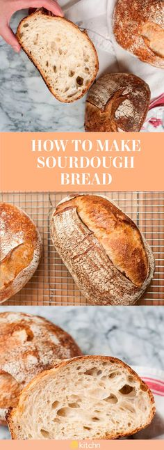 This tutorial shows you how to make sourdough bread. This awesome bread recipe is great for people who enjoy homemade baking and other from starter recipes. This sourdough recipe allows your make-ahead sandwiches to be even fresher than that of the grocery store kind you're used to. To make this sourdough bread, you'll need active sourdough starter, all-purpose flour or bread flour, water and salt.Now, get those sandwiches prepped!